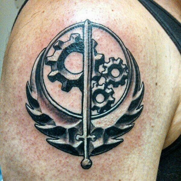 Brotherhood Of Steel Symbol From Fallout Tatts Pinterest