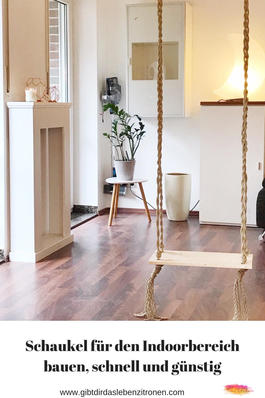 Schaukel bauen für den Indoorbereich