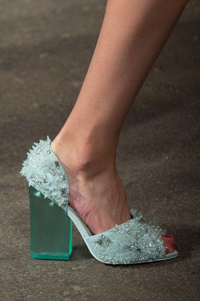 Chunky Lucite Heels (Ok - really
