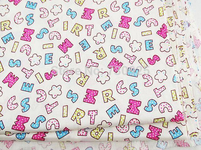 1Y17012 17012 freeshipping 50*147cm Alphabet,ABC pattern fabric, diy - gift letters