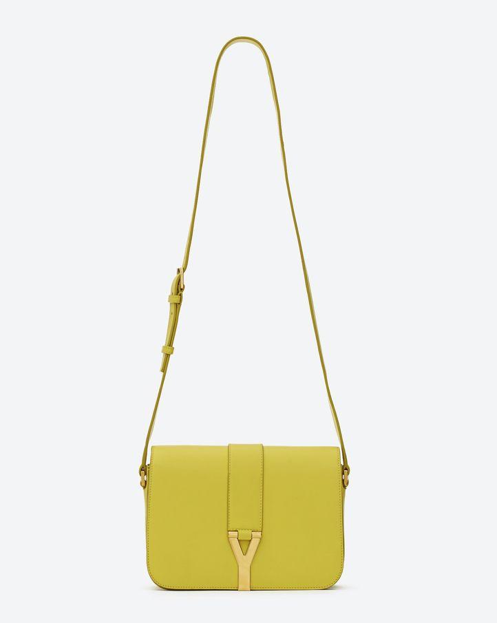 Saint Laurent Classic Y Satchel In Yellow Leather - ysl.com