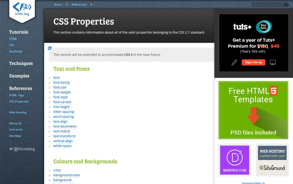 20 Best Css Reference Websites Css Reference Web Development