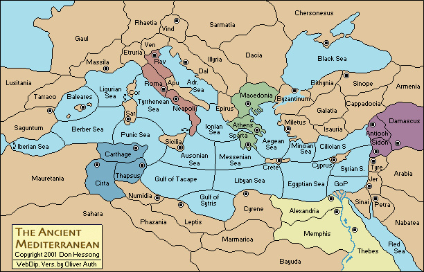 Ancient Mediterranean Map World map of Meditterian | The Ancient Mediterranean (5 Players