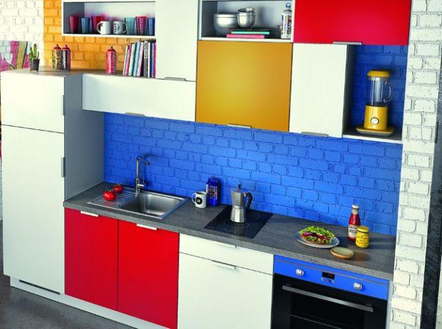 Cuisine coloree | Mondrian | Pinterest | Portes de placard, Les ...