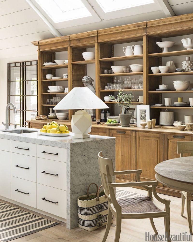 Make Your Table Lamp Cords Disappear Like Magic | Kitchen Shelf Inspiration, Interior Design Kitchen, Kitchen Design