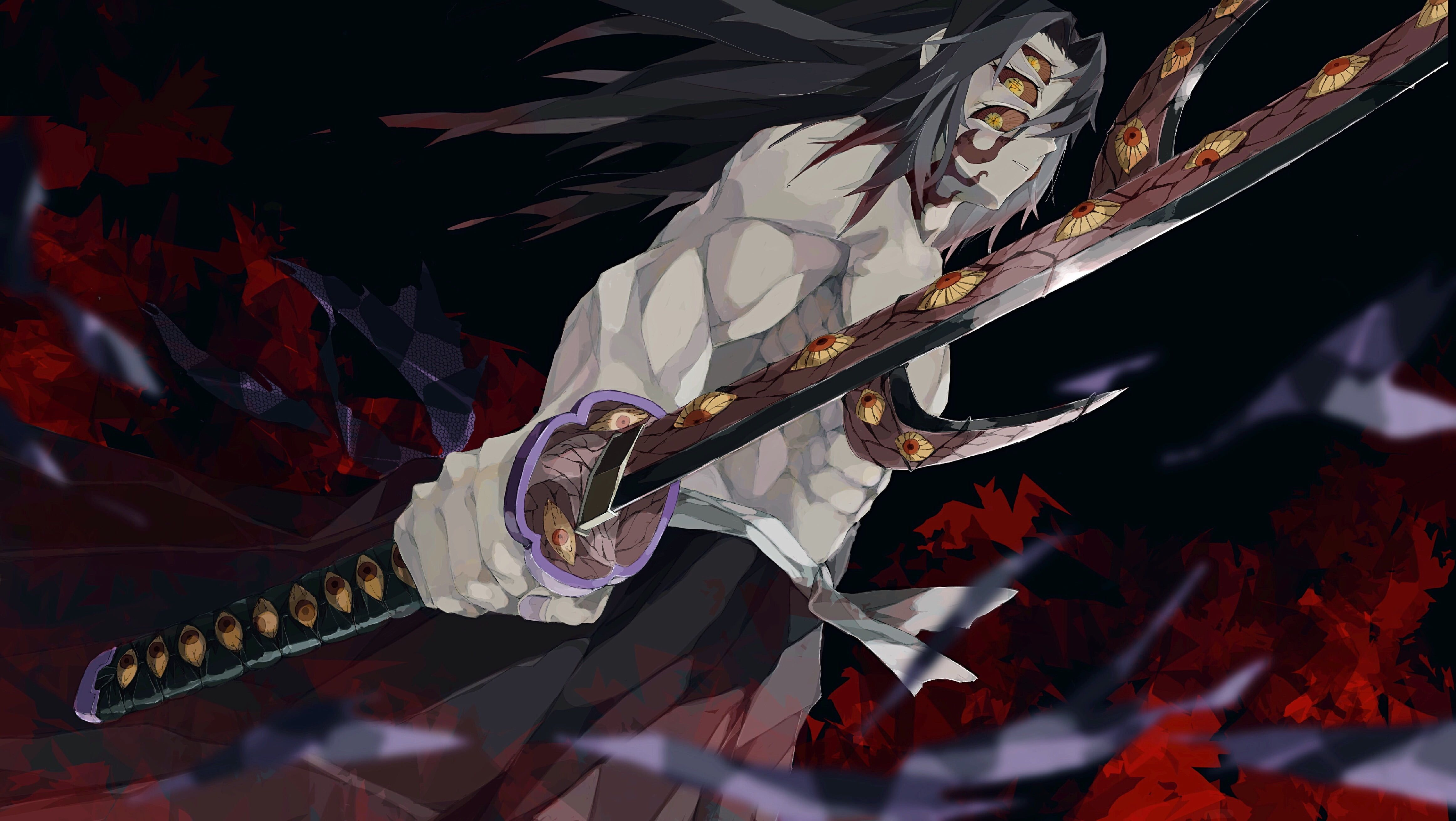 Anime Demon Slayer Kimetsu no Yaiba Kokushibou (Demon