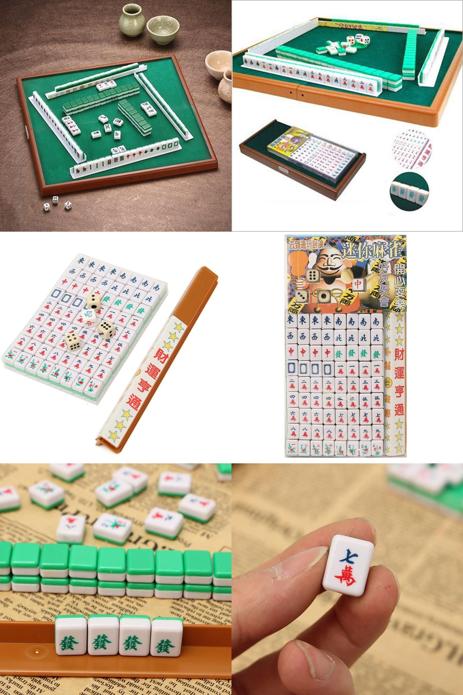 Visit To Buy Portable Mahjong Set Chinese Antique Mini
