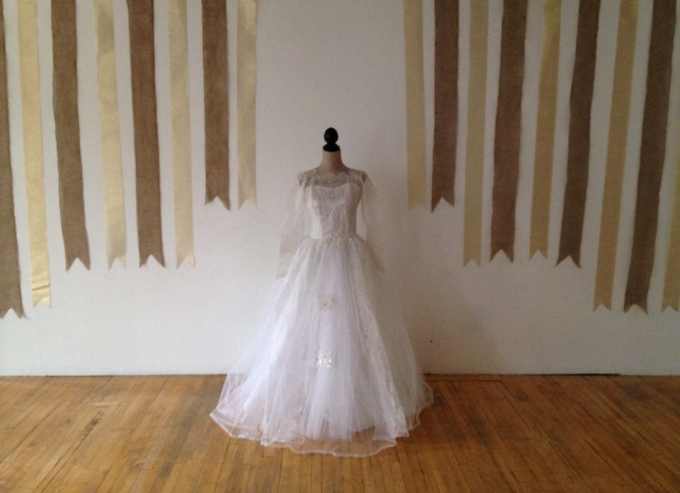 Th wedding anniversary wedding dress burlap and gold