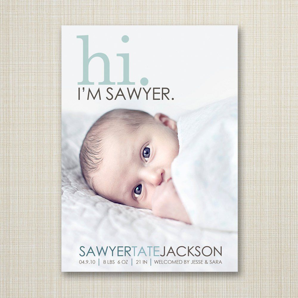 35 Beautiful Birth Announcement Cards That Are Going to Make You – Baby Announcement Cards Etsy