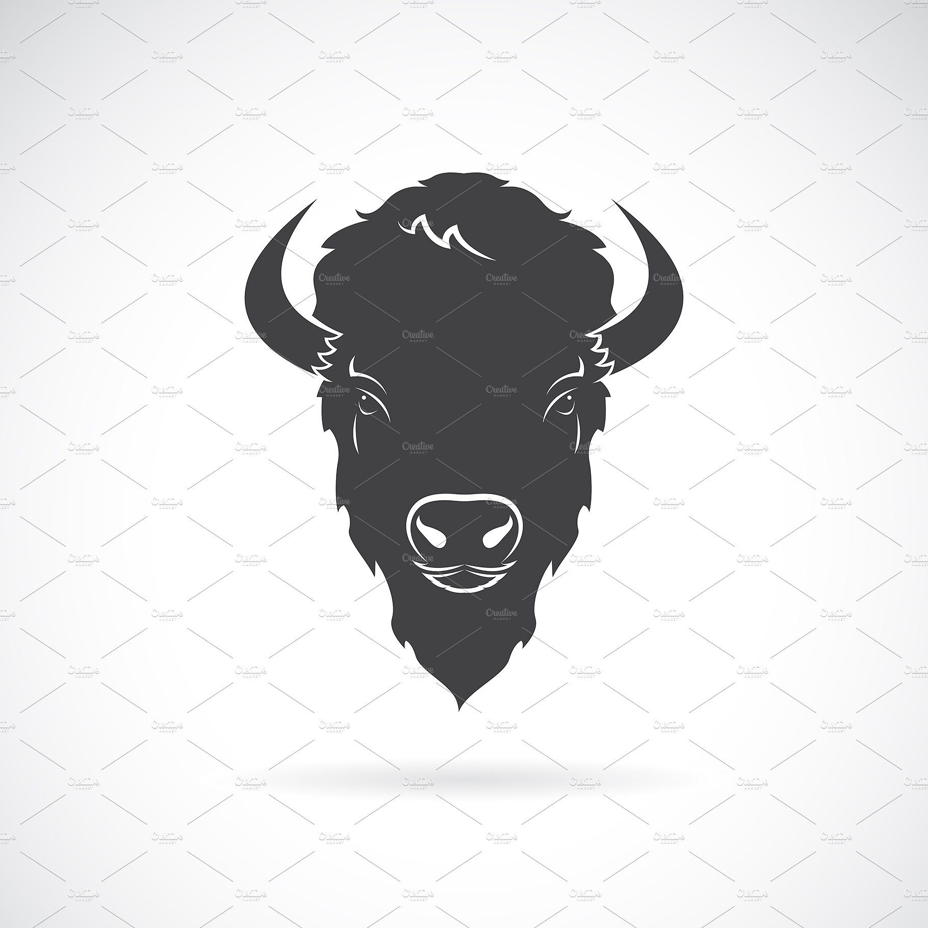 Vector Of A Buffalo Head Design Buffalo Pictures Bison Tattoo Bison Art