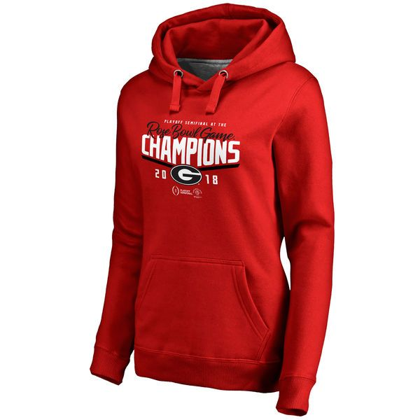 304c3cf2 Women's Fanatics Branded Red Georgia Bulldogs College Football Playoff 2018  Rose Bowl Champions Goal Pullover Hoodie
