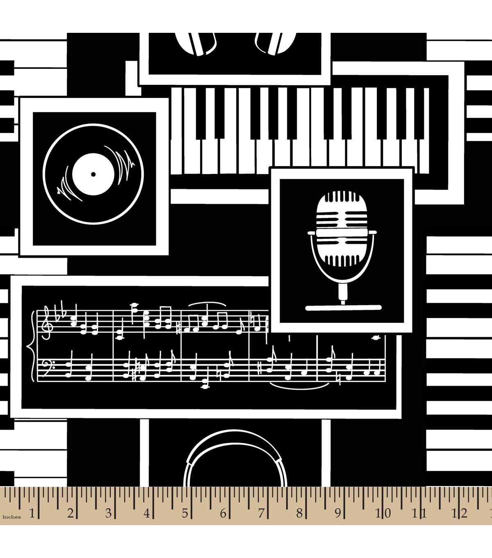 Anti-Pill Fleece Fabric-Key To Music