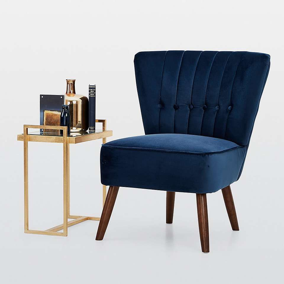newest collection 9c299 2137e Isla Velvet Cocktail Chair - Midnight | Sitting Room in 2019 ...