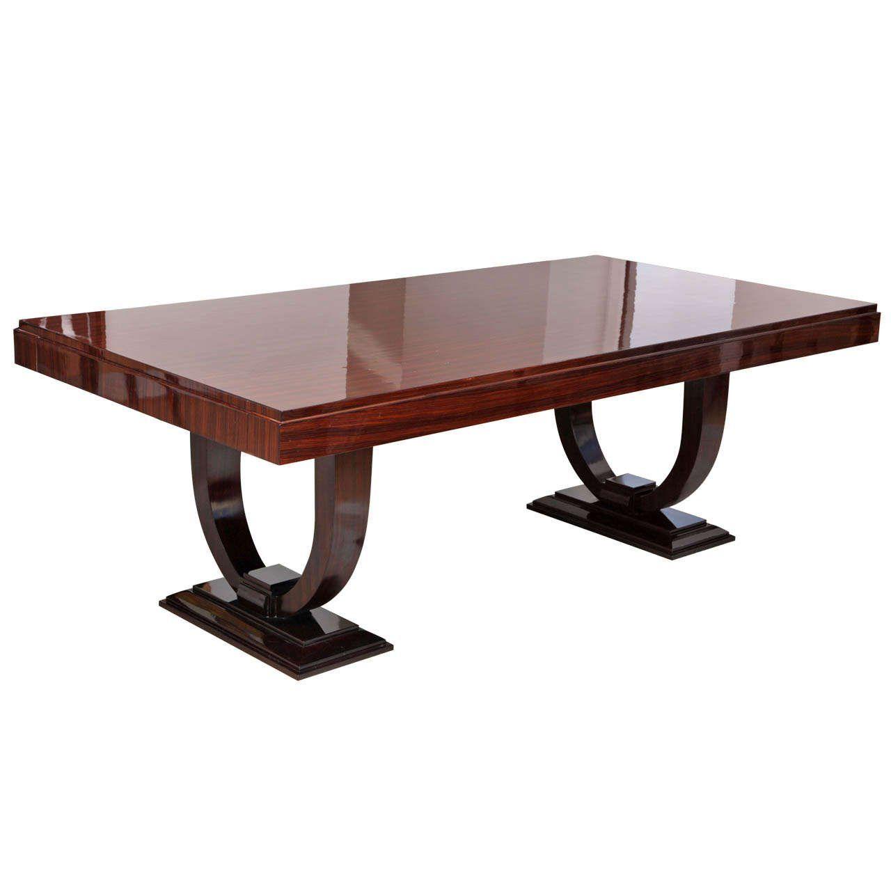 Stunning Art Deco Macassar Ebony Dining Table Dining Table Art