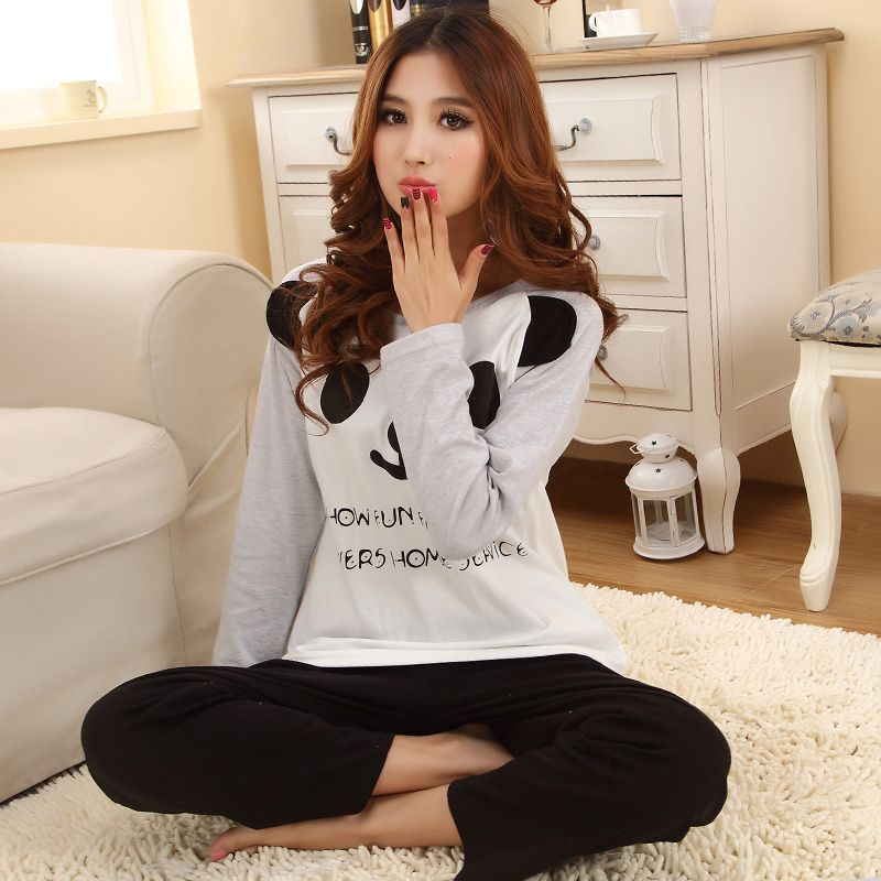 2cf830aa192ee Cheap pajamas satin, Buy Quality pajamas leggings directly from China pajama  shorts Suppliers: Free shipping Women's cotton cute korean pjs mother  daughter ...