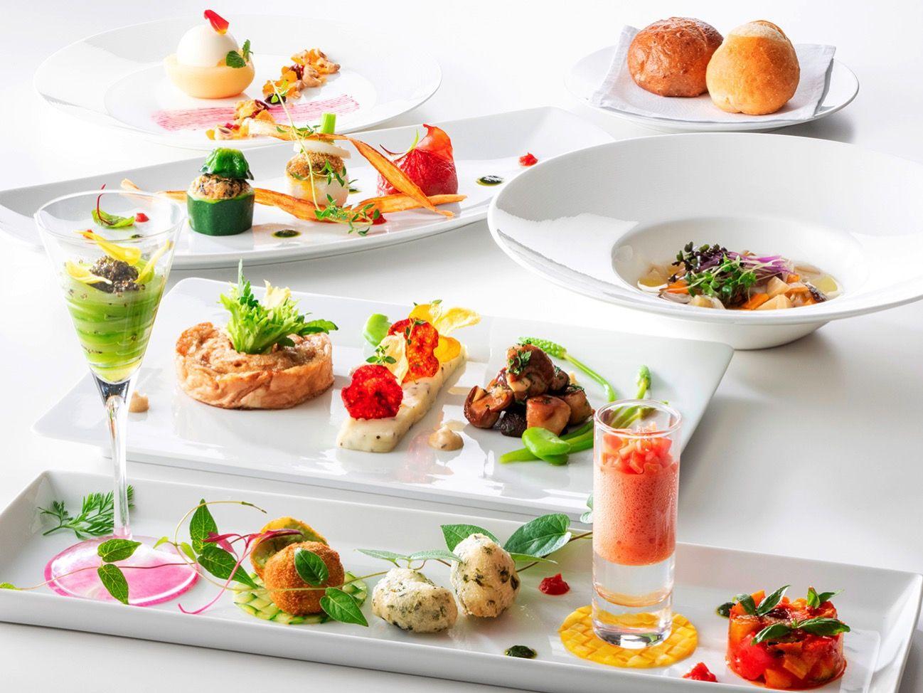 フランス料理 アジュール 横浜のインターコンチネンタル ホテル ベジタリアンメニューを通年提供 Xmasディナー 料理 レシピ ケータリング料理