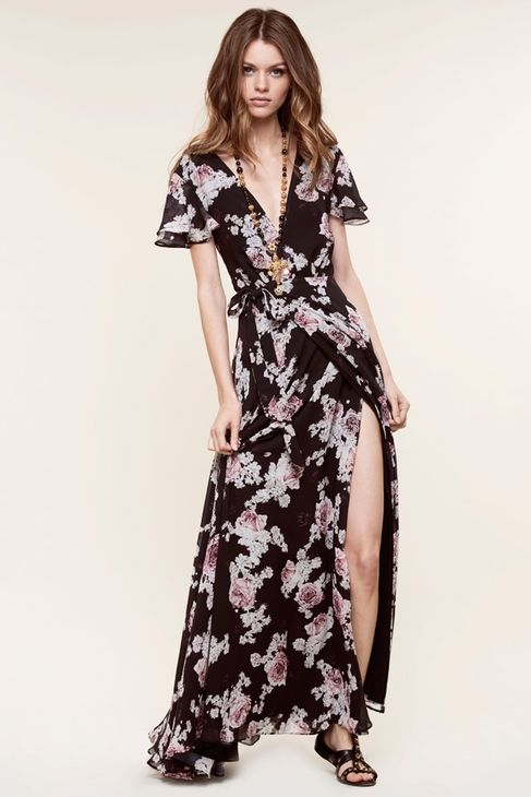 c218cb1fb32 The Jetset Diaries Rosa Floral Maxi Dress in Black