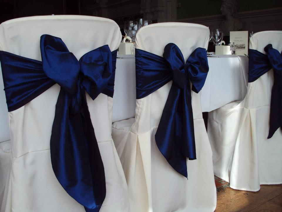 Attrayant Navy Blue Chair Covers
