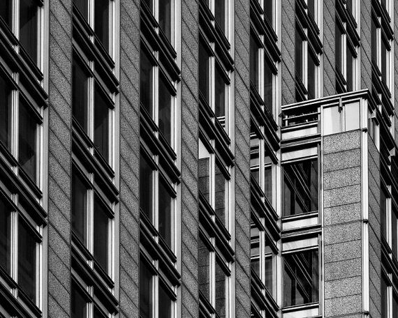 8x10 black and white print close up of a buildings by pelliculart