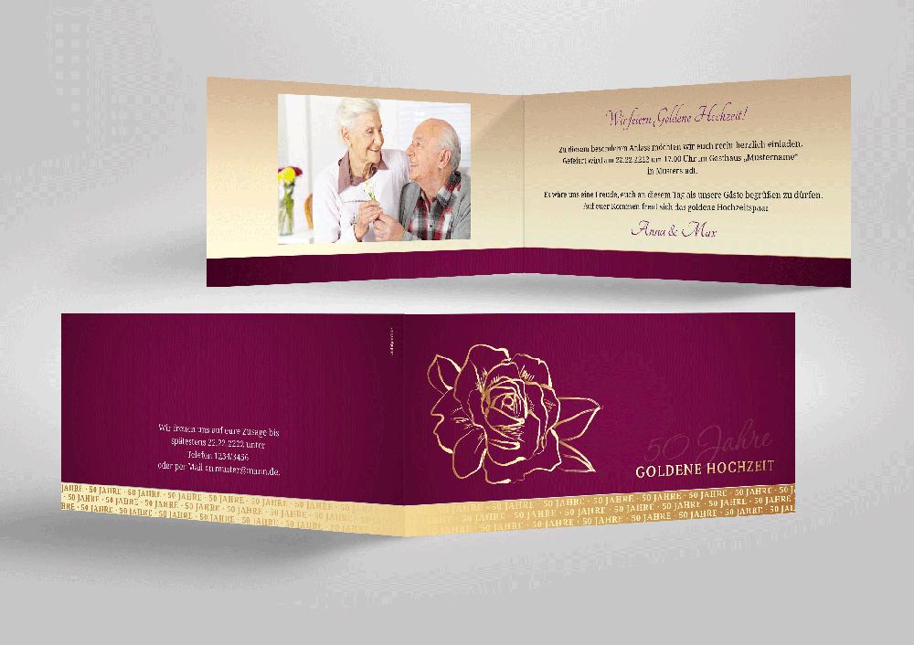 schmuckstück | einladung goldene hochzeit