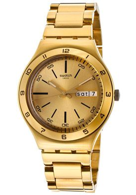 Swatch YGG706G Watches,Women's Irony Gold Tone Dial Gold Tone Ion Plated Stainless Steel, Women's Swatch Quartz Watches