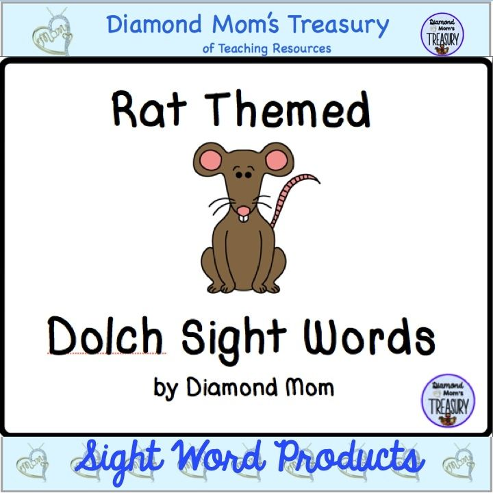 Great for Chinese New Year or any time of the year. These rat themed flashcards will make learning sight words fun. Suitable for primary children.