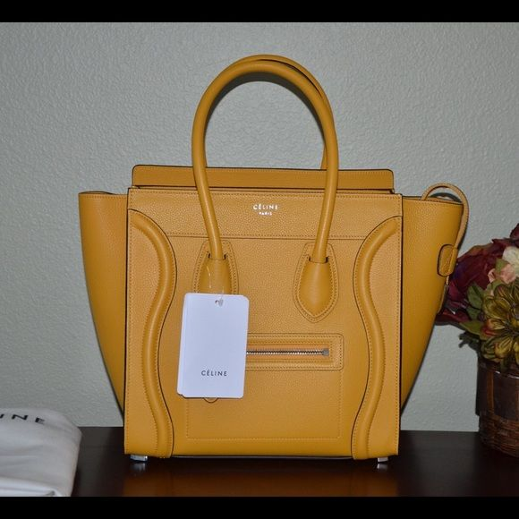 c0336ae38e 100% auth Celine micro luggage ocre yellow Brand-new never used comes with  dust bag and tags. Price is firm no trades thank you Celine Bags Totes