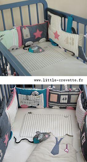 tour de lit train enti rement r versible sur chambre b b mini. Black Bedroom Furniture Sets. Home Design Ideas