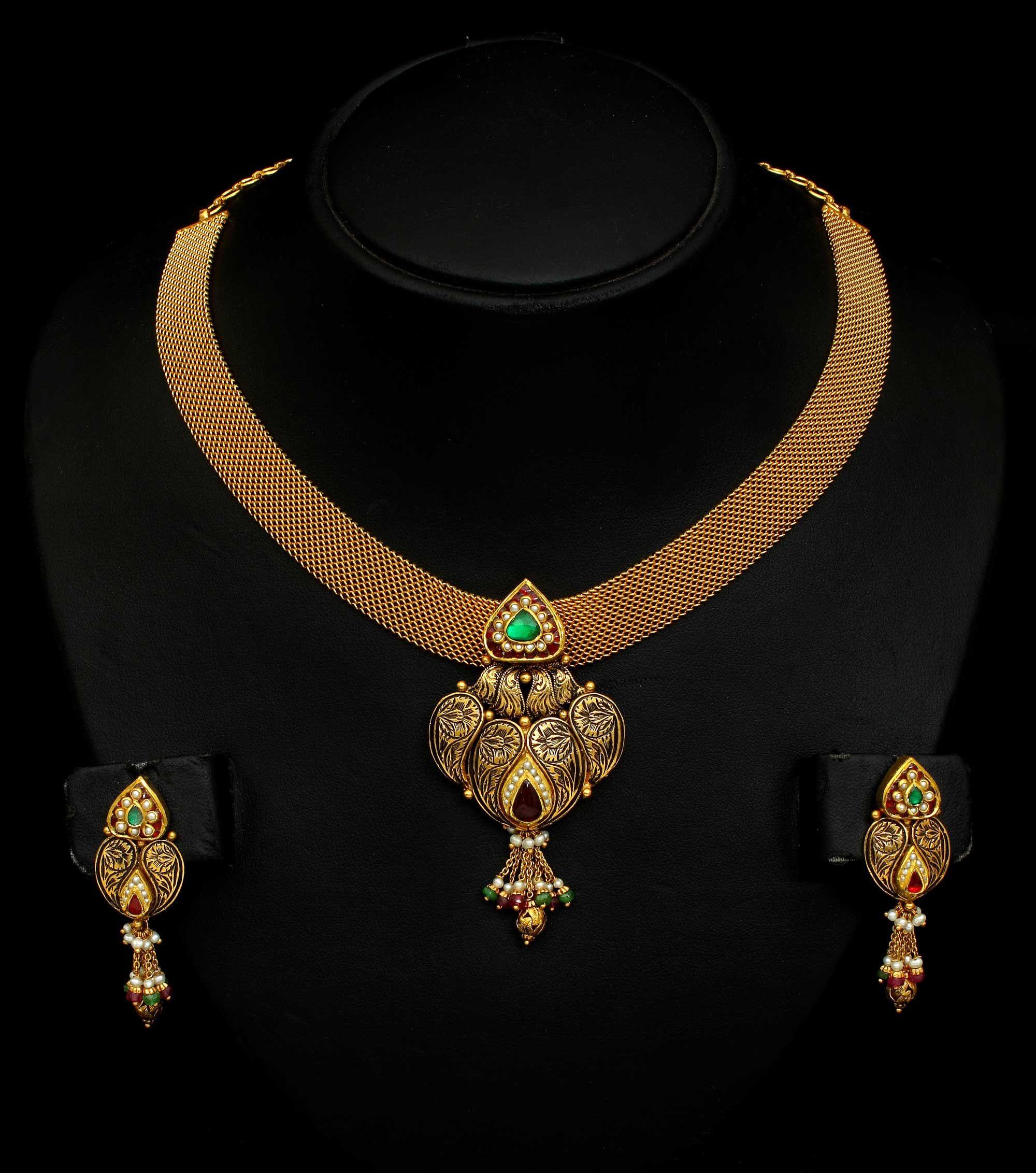 e Gram Gold Bridal Haram Design