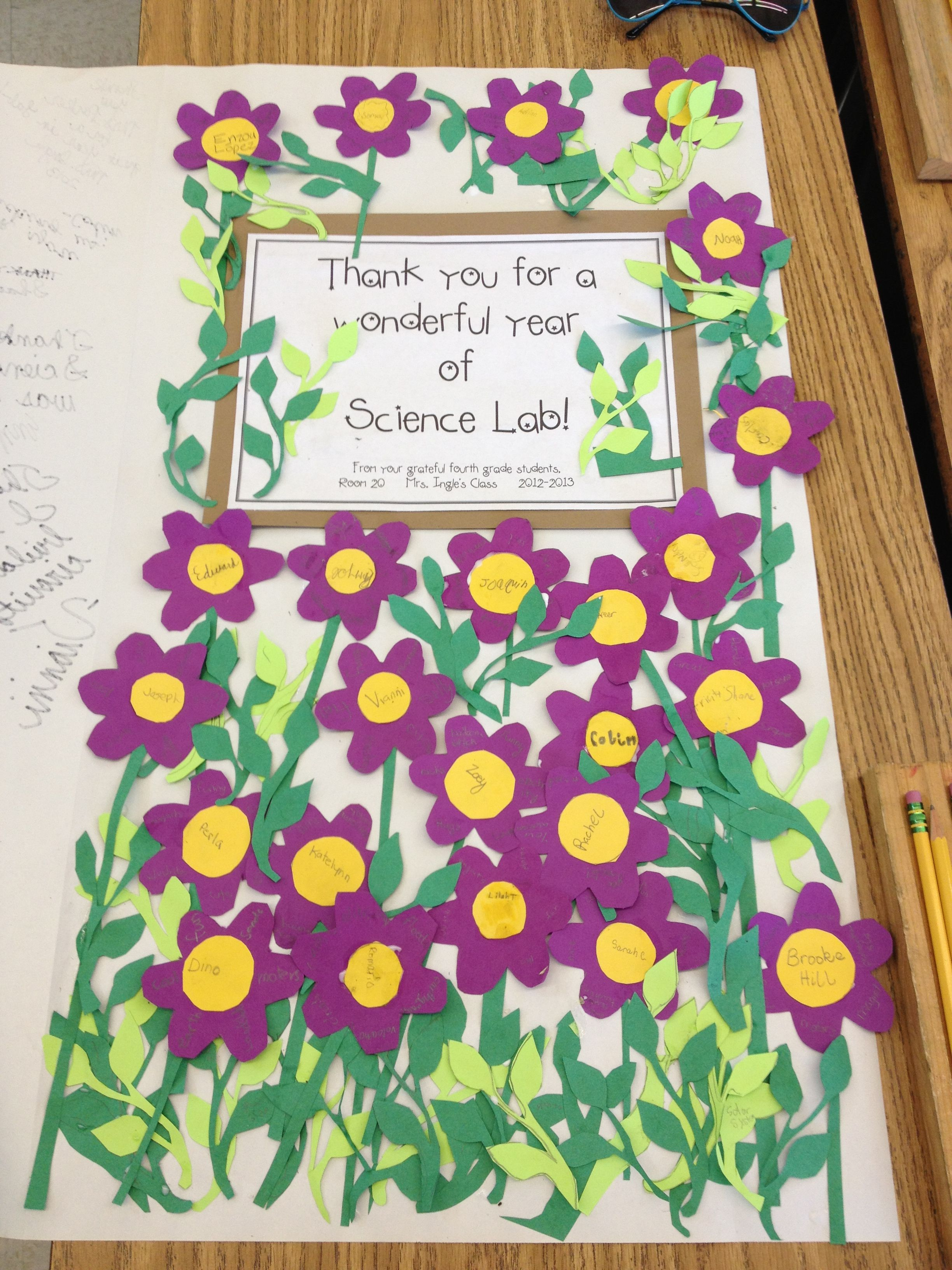 thank you card poster size for a gift for a teacher from