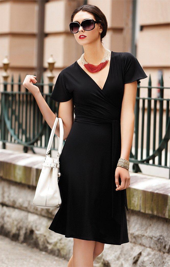 Sacha Drake Joy Wrap Dress In Black Little Black Dress Travel