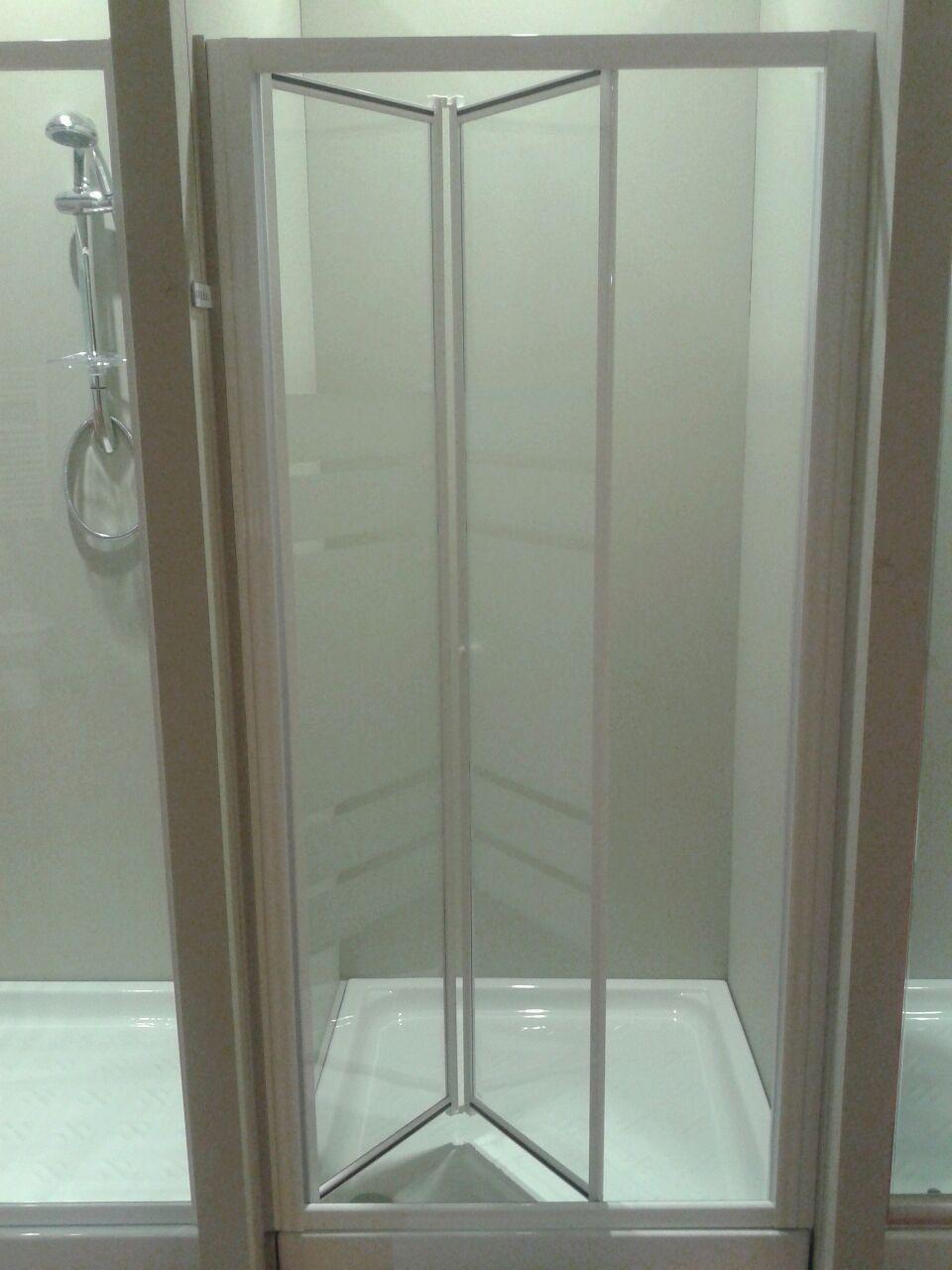 Box doccia cristallo 3 mm Nicchia un lato porta a