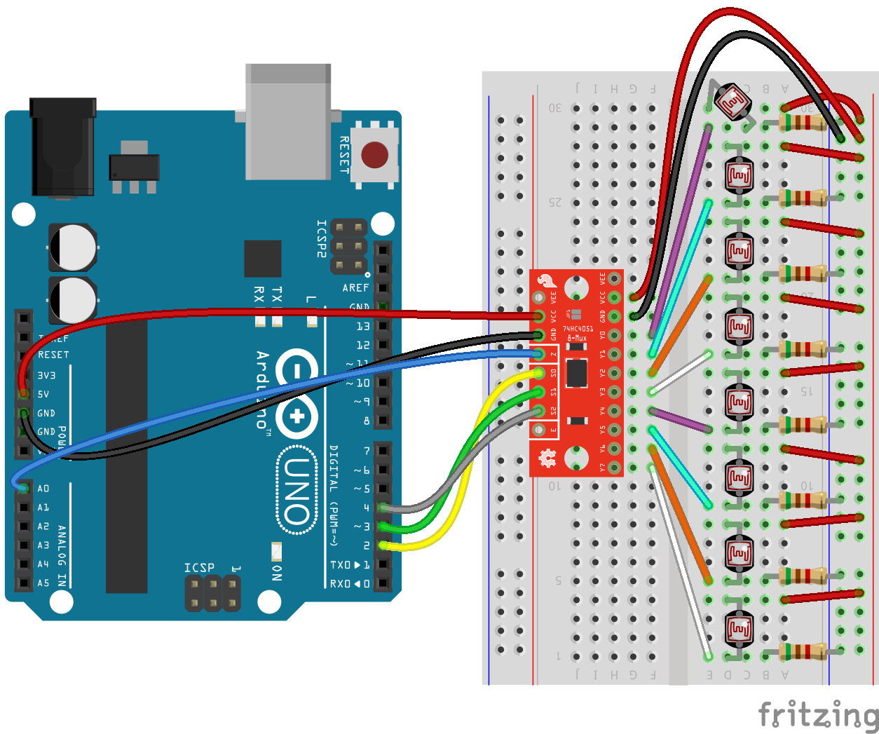 Example Analog Input Circuit Arduino Android Raspberry Pi