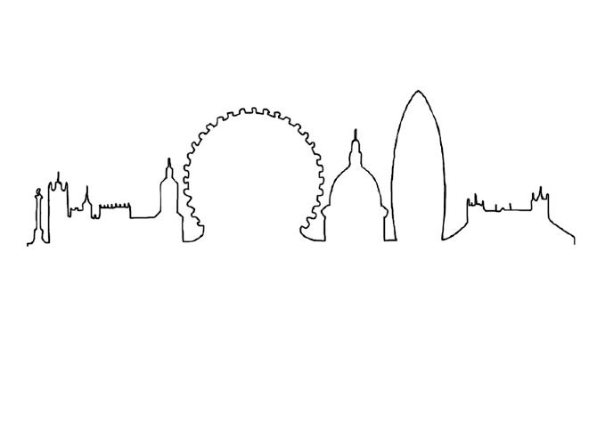 Line Drawing Tattoo London : London skyline tattoo pesquisa google ideas
