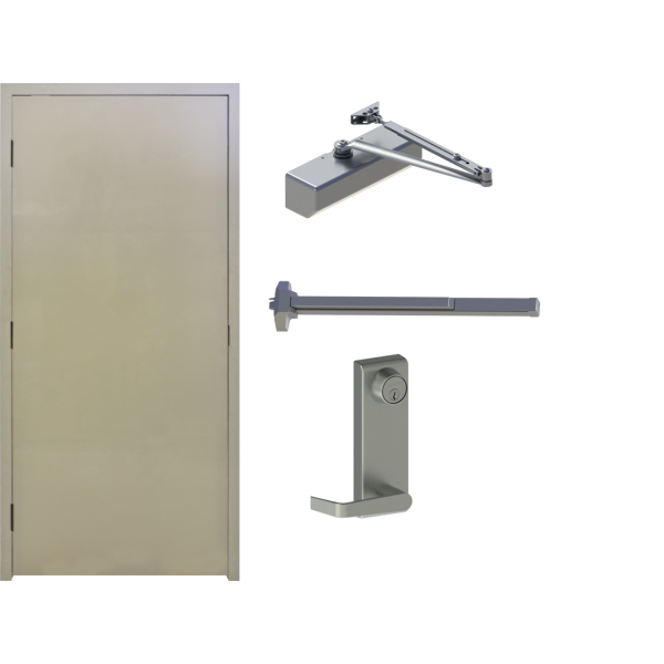 Commercial Flush Primed Steel Exterior Door Frame Exit Closer Steel Doors Exterior Exterior Door Frame Hollow Metal Doors