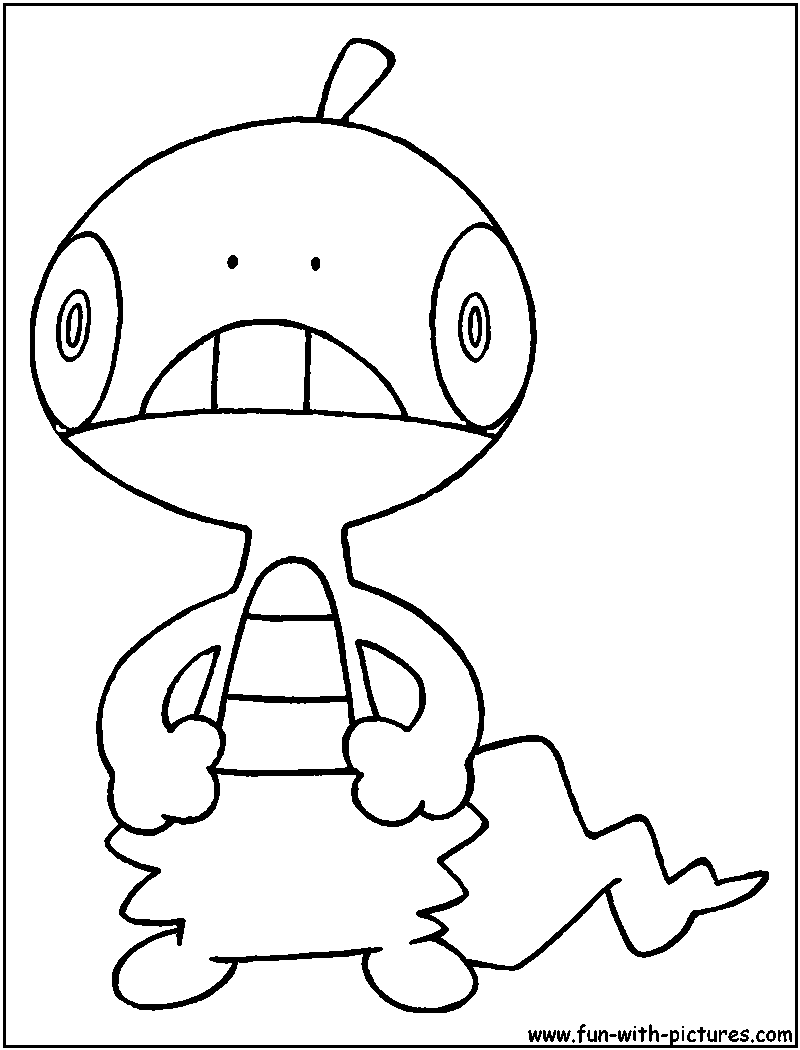 Pokemon coloring pages liepard - Scraggy Coloring Page