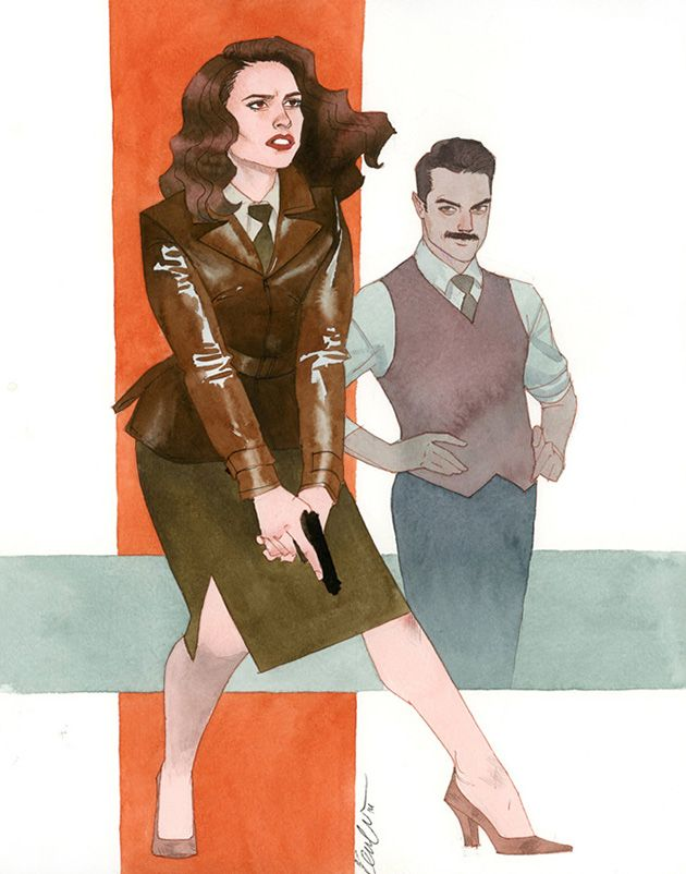 Agent Peggy Carter and Howard Stark by Kevin Wada Peggy