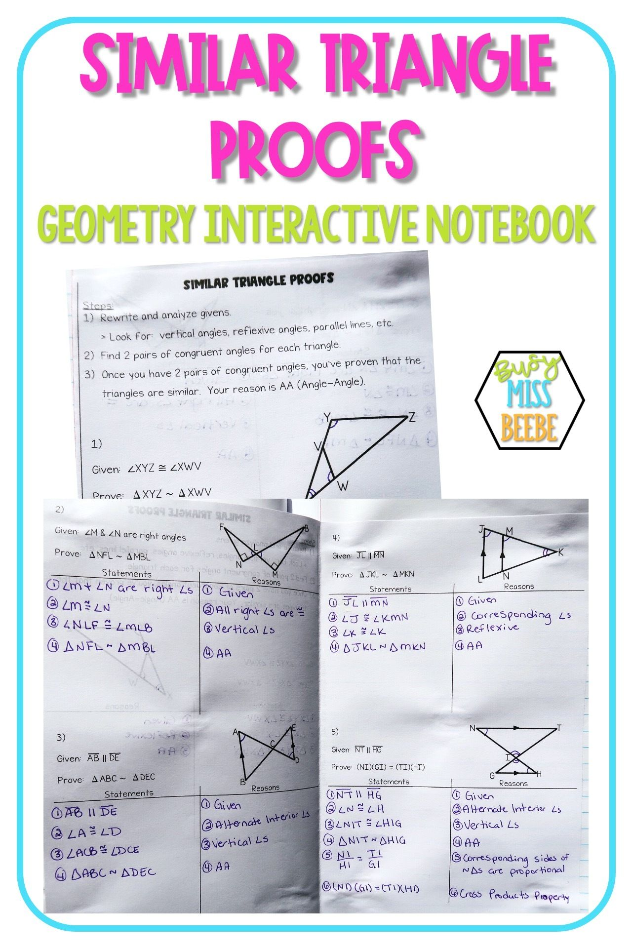 Geometry Interactive Notebook Similarity Busy Miss Beebe In 2020 Geometry Interactive Notebook Interactive Notebooks Teaching Geometry