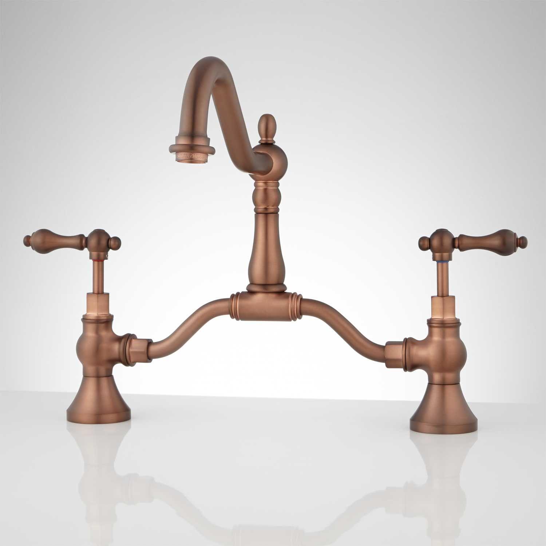 Elnora Bridge Bathroom Faucet - Lever Handles - No Overflow ...