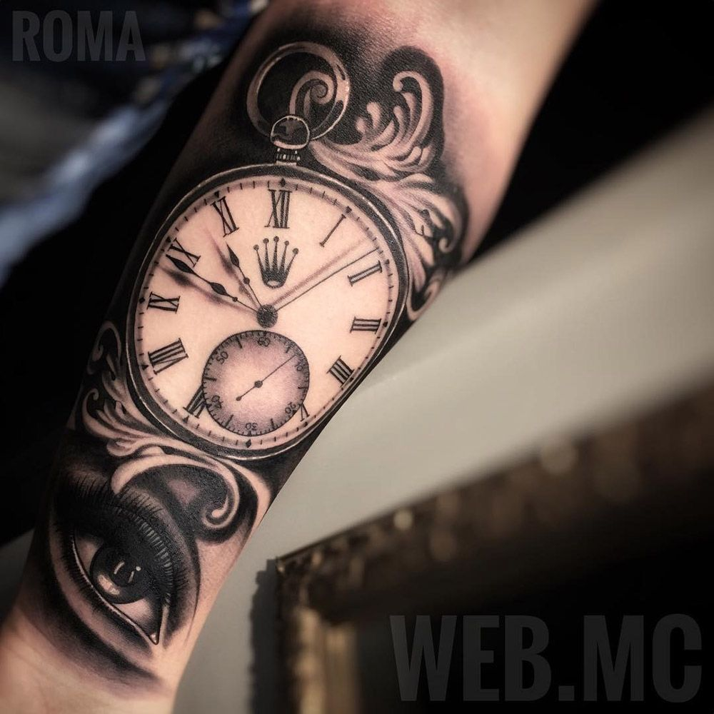 images 22 Cute Clock Tattoo Ideas For Women