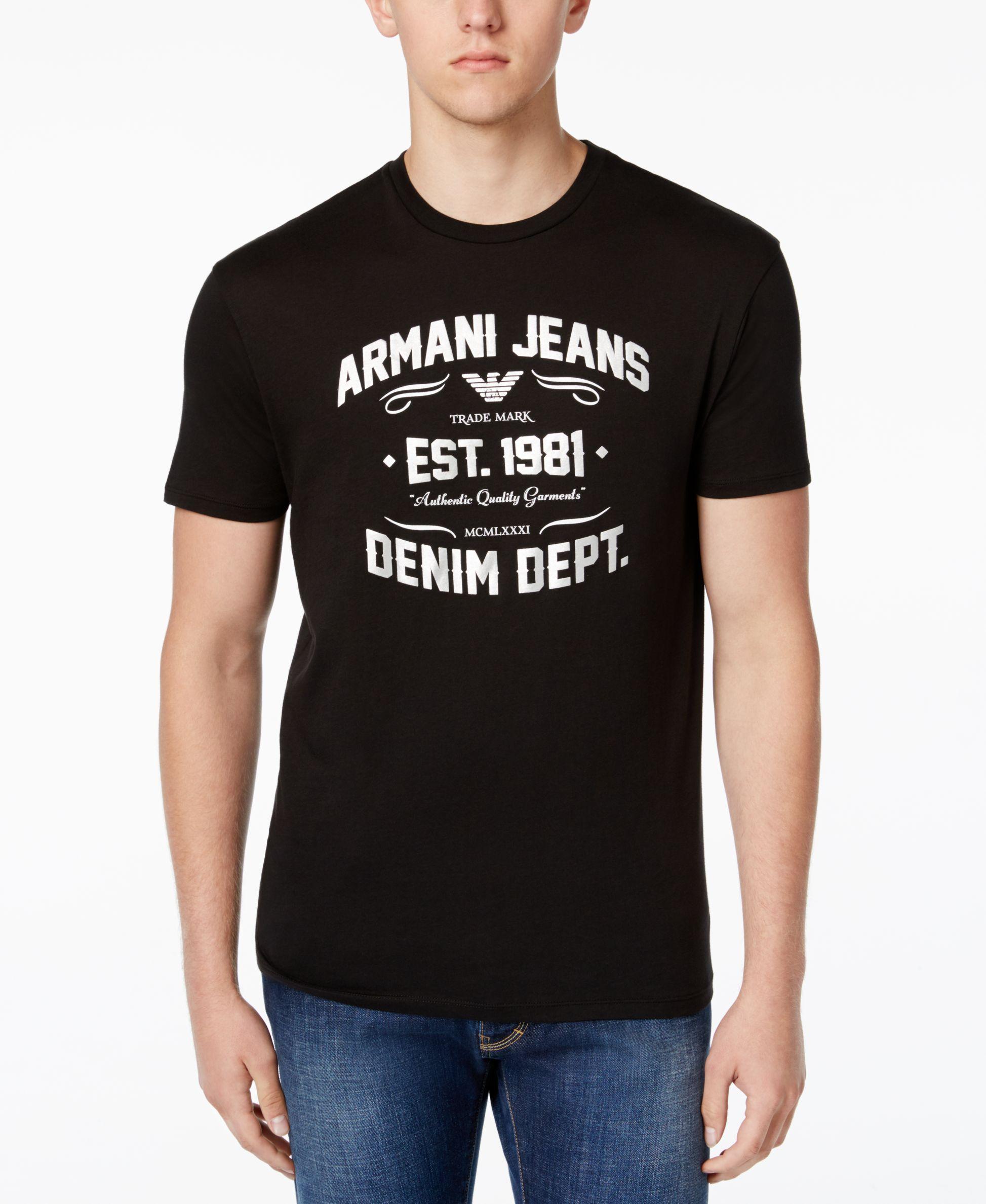 ed8fcdc866 Armani Jeans Men's Graphic-Print T-Shirt | Me2 | Armani jeans men ...