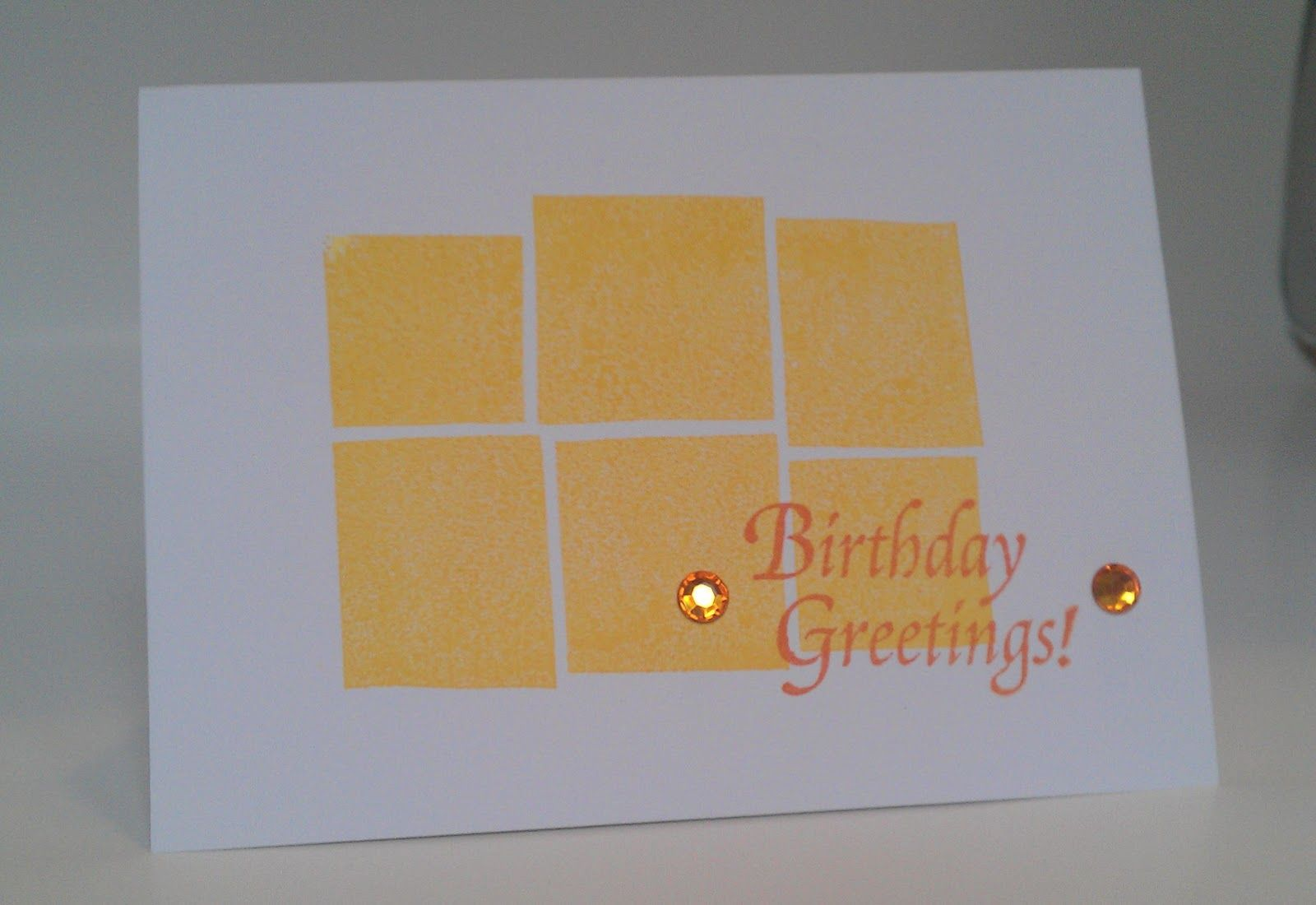 Image result for one layer birthday cards
