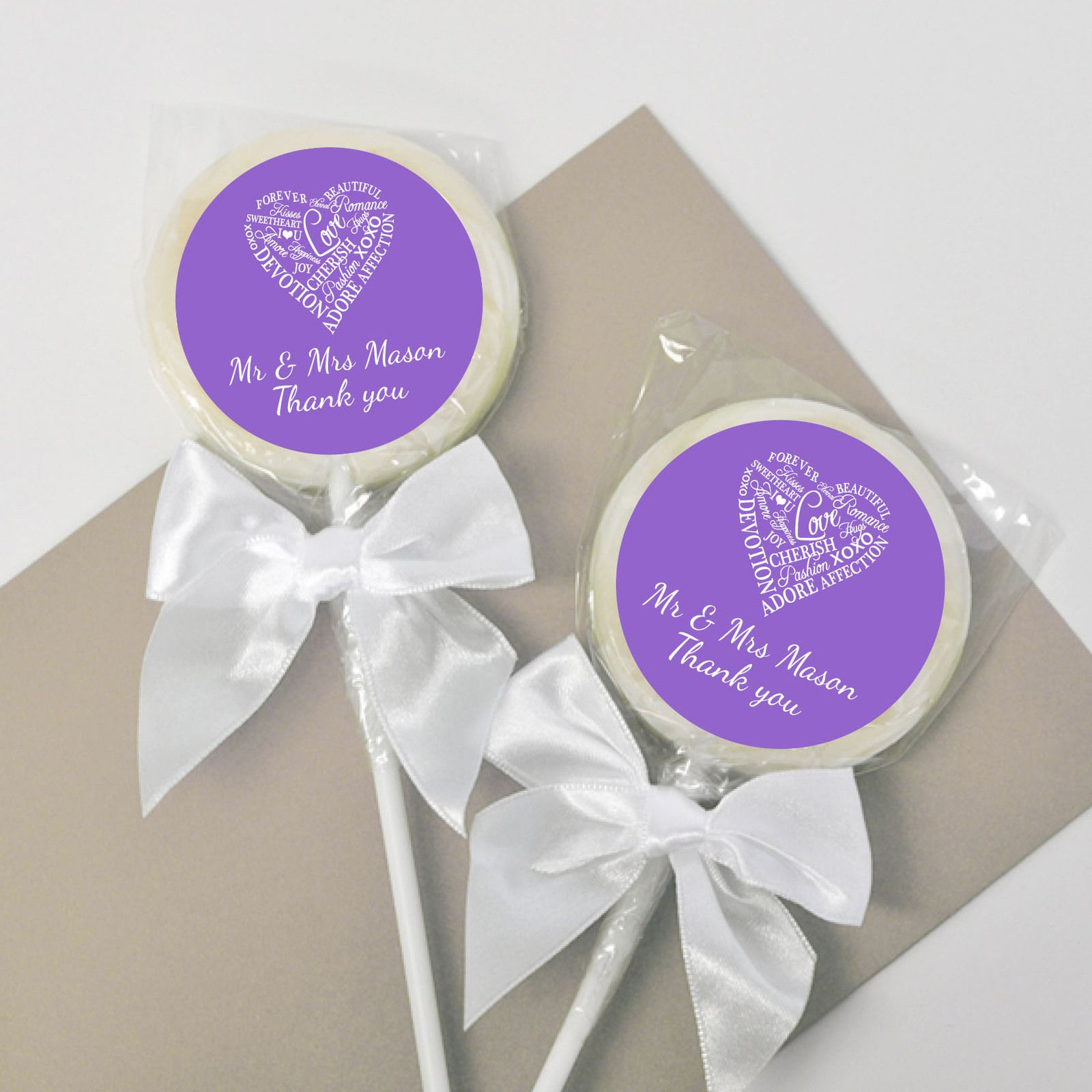 Words of Love Wedding Lollipops Bomboniere - Customised Favours ...