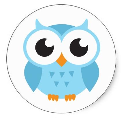 cute blue cartoon baby owl stickers clipart best clipart best rh pinterest com Swirling Leaves Clip Art Autumn Clip Art Charlie Brown