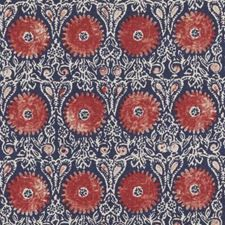 Red Blue Fl Medium Drapery And Upholstery Fabric By Duralee