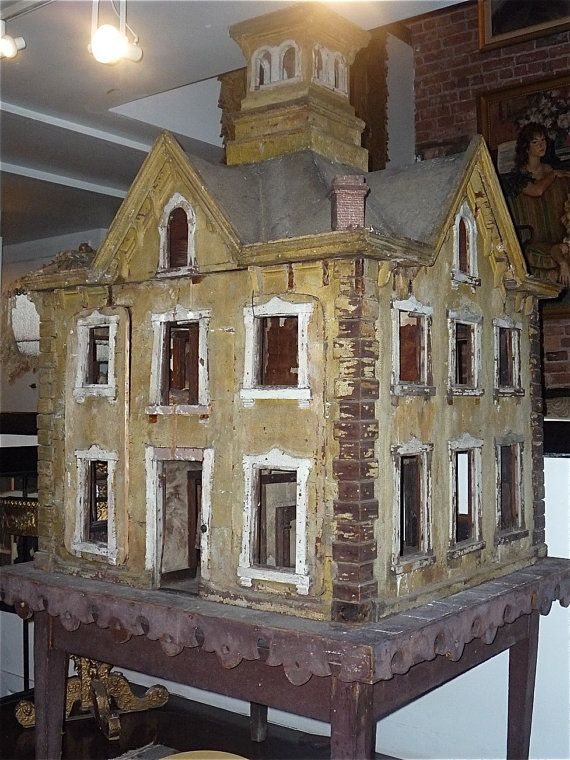 antique dollhouse dh pinterest haus selber bauen fassaden und miniatur. Black Bedroom Furniture Sets. Home Design Ideas