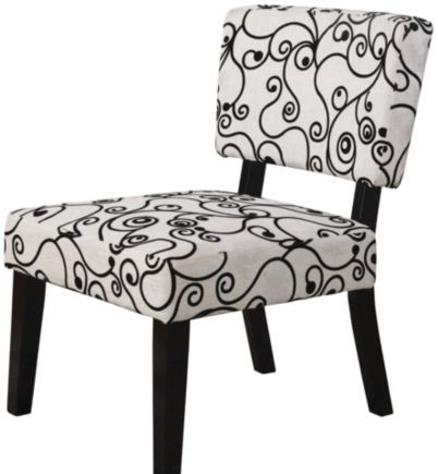 Best Taylor Accent Chair White W Black Circles Accent Chairs 400 x 300