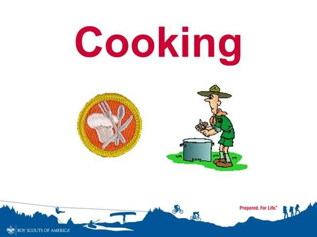 power point presentation for cooking merit badge by boyscouts via