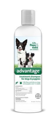 DOG FLEA SHAMPOOS - ADVANTAGE FLEA & TICK DOG SHAMPOO - 12 OZ - BAYER HEALTHCARE LLC - ANIMAL - UPC: 724089792655 - DEPT: DOG PRODUCTS