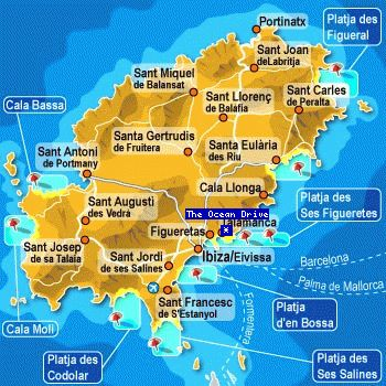 Ibiza Karte.Map Ibiza Spain Maps And Landscapes Ibiza Island Ibiza Spain